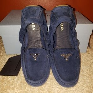 Prada scrunch loafer
